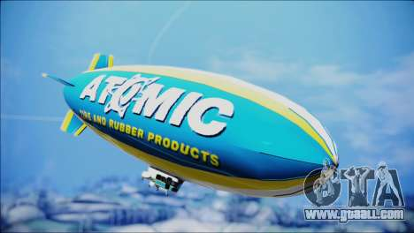 Blimp Atomic for GTA San Andreas back left view