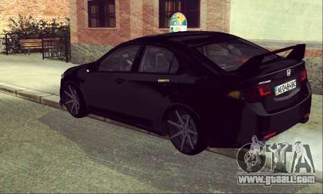 Honda Accord Type S 2008 LT for GTA San Andreas back view