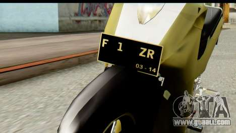 Yamaha F1ZR Stock for GTA San Andreas back view