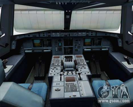 Airbus A380-800 F-WWDD Etihad Titles for GTA San Andreas inner view