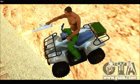 ATV Army Edition v.3 for GTA San Andreas right view