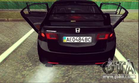 Honda Accord Type S 2008 LT for GTA San Andreas back left view