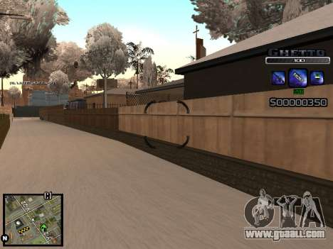 С-HUD GHETTO for GTA San Andreas fifth screenshot