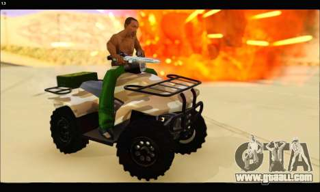 ATV Army Edition v.3 for GTA San Andreas back view