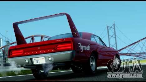 Plymouth Roadrunner Superbird RM23 1970 IVF for GTA San Andreas