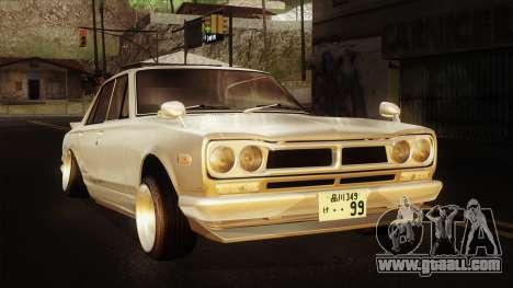 Nissan Skyline GC10 2KGT Shakotan for GTA San Andreas