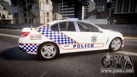 Holden VF Commodore SS Queensland Police [ELS] for GTA 4 left view