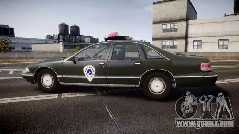 Chevrolet Caprice 1993 Detroit Police for GTA 4 left view