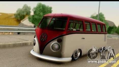 Volkswagen Transporter T1 Stance for GTA San Andreas