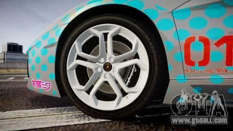 Lamborghini Aventador 2012 [EPM] Miku 3 for GTA 4 back view