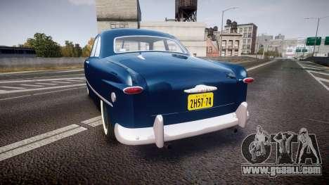 Ford Custom Club 1949 for GTA 4 back left view