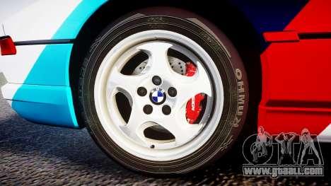 BMW E31 850CSi 1995 [EPM] Castrol White for GTA 4 back view
