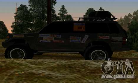 Mitsubishi Pajero Off-Road for GTA San Andreas right view