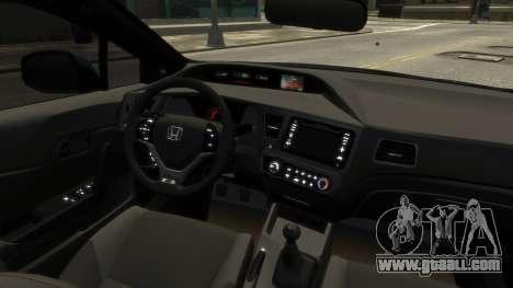 Honda Civic Si 2013 v1.0 for GTA 4 back view