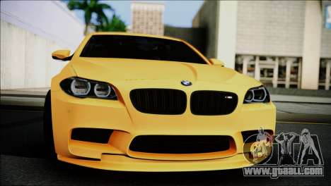 BMW M5 F10 for GTA San Andreas back left view