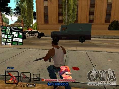 C-HUD by HudMud for GTA San Andreas forth screenshot