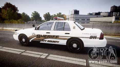 Ford Crown Victoria LCSO [ELS] MX7000 for GTA 4 left view