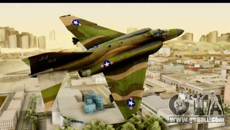 F-4 Vietnam War Camo for GTA San Andreas back left view