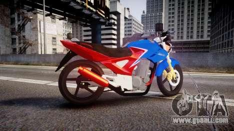 Honda Twister 2014 for GTA 4 left view