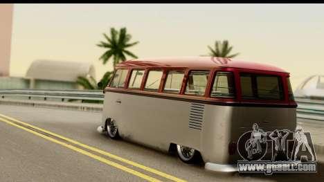 Volkswagen Transporter T1 Stance for GTA San Andreas left view