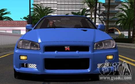 Nissan Skyline GT-R V Spec II 2002 for GTA San Andreas side view