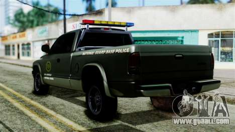 Dodge Dakota National Guard Base Police for GTA San Andreas left view