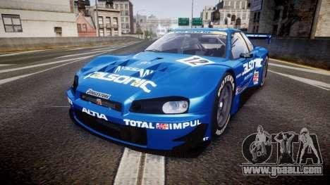 Nissan Skyline R34 2003 JGTC Calsonic for GTA 4