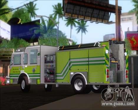 Pierce Arrow XT Miami Dade FD Engine 45 for GTA San Andreas back view