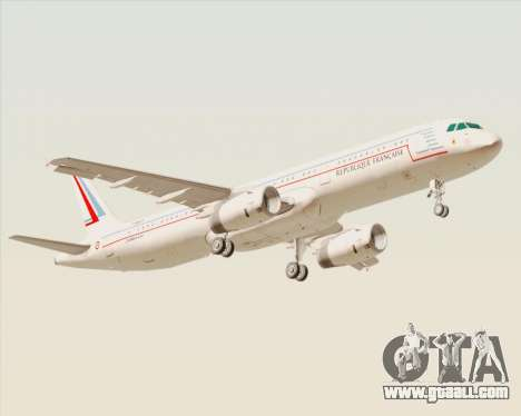 Airbus A321-200 French Government for GTA San Andreas right view
