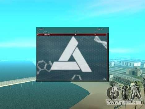 SampGui style Abstrego for GTA San Andreas