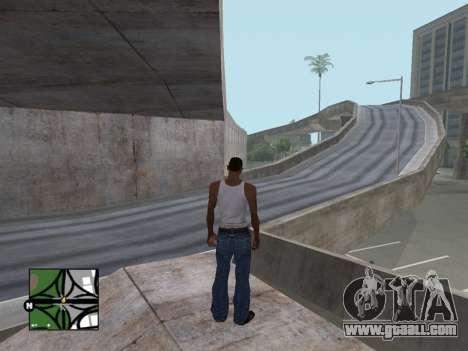 Square radar from GTA 5 for GTA San Andreas