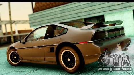 Pontiac Fiero GT G97 1985 HQLM for GTA San Andreas back left view