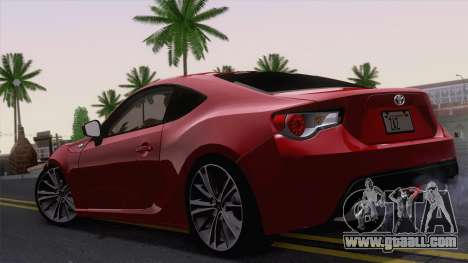 Toyota GT86 (ZN6) 2012 for GTA San Andreas right view