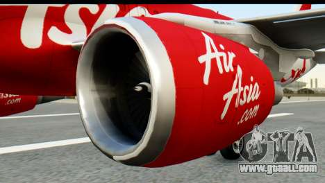 Airbus A320-200 Indonesia AirAsia for GTA San Andreas back left view