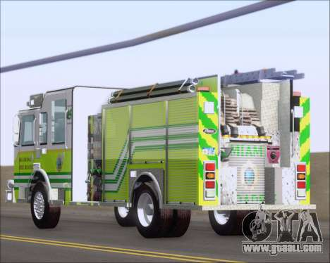 Pierce Arrow XT Miami Dade FD Engine 45 for GTA San Andreas side view
