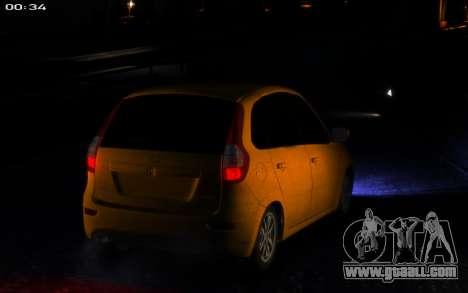 Lada Kalina 2 for GTA 4 back view