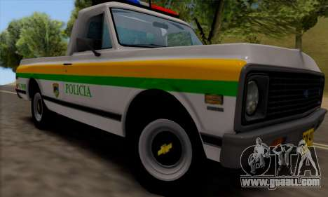Chevrolet C10 1972 Policia for GTA San Andreas back left view