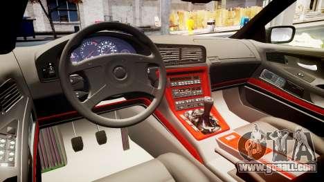 BMW E31 850CSi 1995 [EPM] Castrol White for GTA 4 inner view