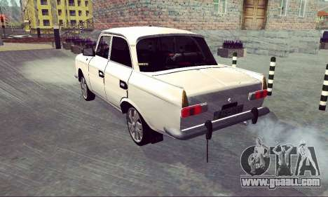 Moskvich 412 White Swallow for GTA San Andreas back view