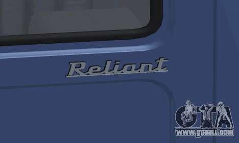 Reliant Supervan III for GTA San Andreas upper view
