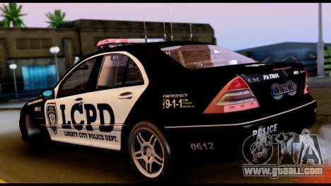 Mercedes-Benz C32 AMG Police for GTA San Andreas right view