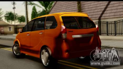 Toyota Avanza Veloz 2012 for GTA San Andreas