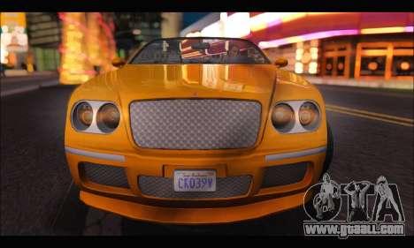 Enus Cognoscenti Cabrio (GTA V) (IVF) for GTA San Andreas right view