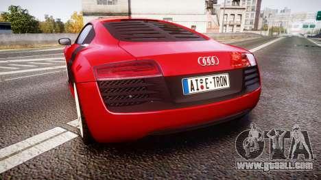 Audi R8 E-Tron 2014 for GTA 4 back left view