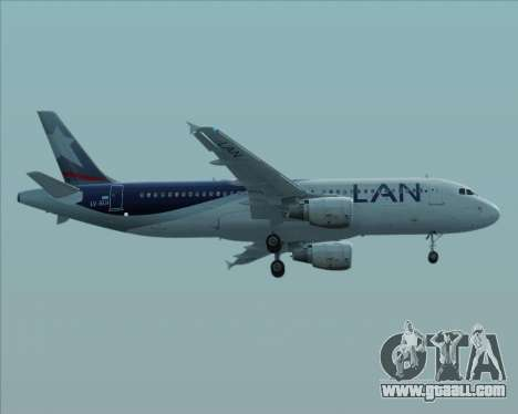 Airbus A320-200 LAN Argentina for GTA San Andreas back left view