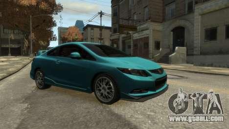 Honda Civic Si 2013 v1.0 for GTA 4 back left view