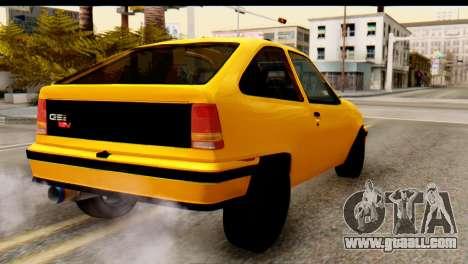 Opel Kadett GSI Drag 2015 for GTA San Andreas left view