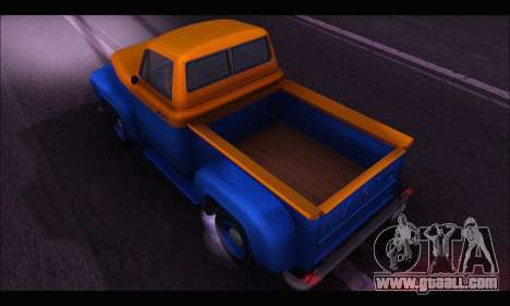 Vapid Slamvan (GTA V) for GTA San Andreas back left view