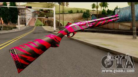 Red Tiger Shotgun for GTA San Andreas second screenshot