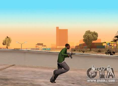 Realistic gait for GTA San Andreas second screenshot